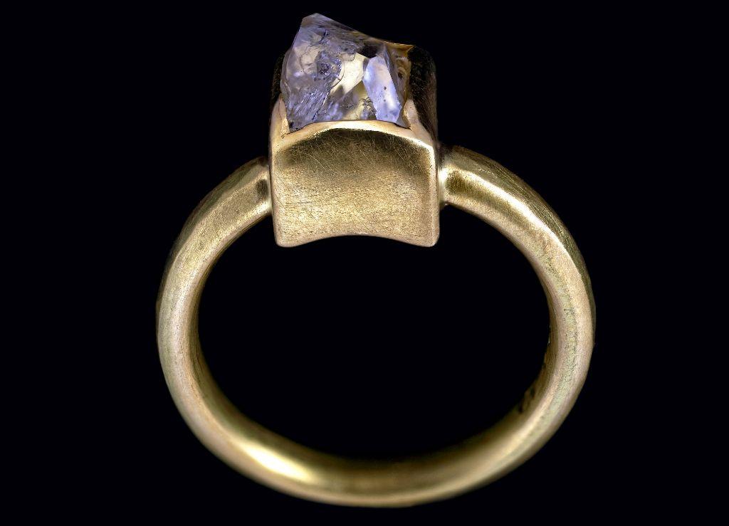 Goldring mit Allgäuer Diamant