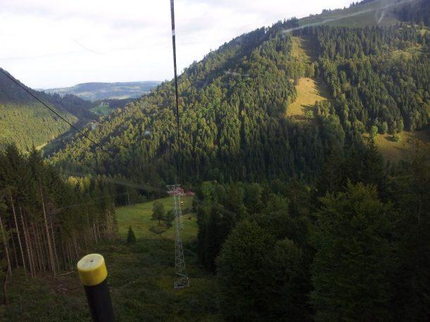 Bergbahnfahrt zum Hochgrat in den Allgäuer Alpen