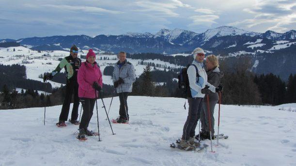 Schneeschuhwandern, Alpen