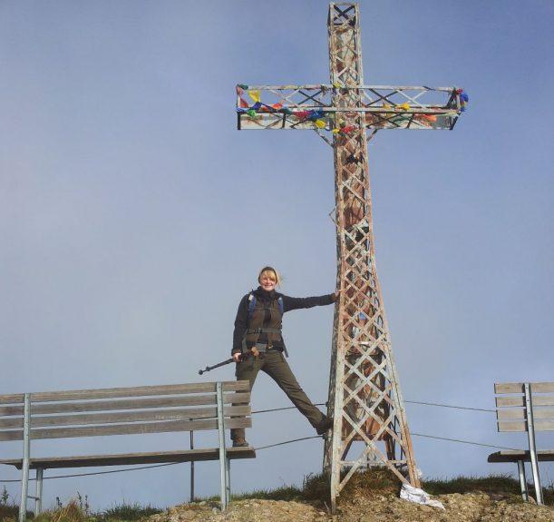 Gipfelkreuz Hochgrat - erstes Ziel Wanderweg