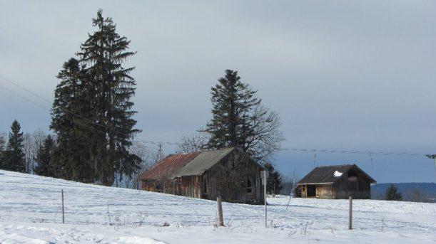 Schneeschuhwanderung vorbei an Hütten