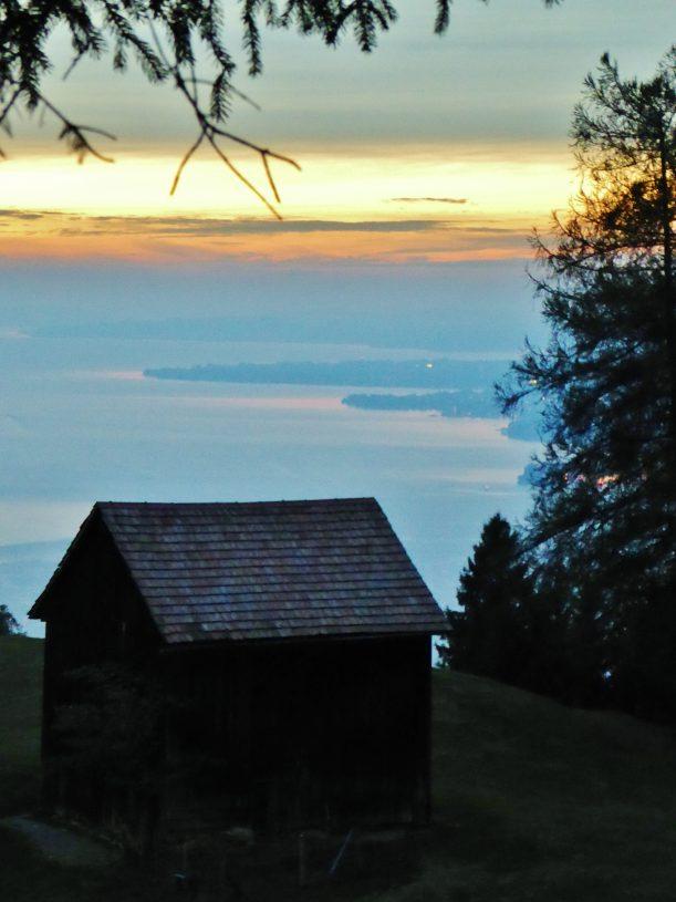 Wanderung mit Sonnenuntergang auf dem Pfänder