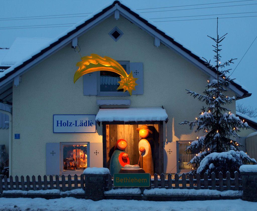 Krippe in Bethlehem im Allgäu