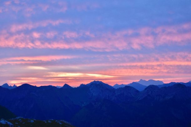 Nebelhorn - Sonnenaufgang oberhalb Edmund Probst Haus