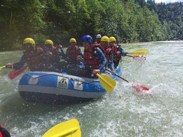 Bootfahren von der Breitachklamm über den Illerursprung bis nach Kempten