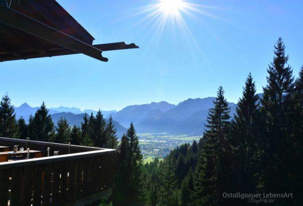 Blick von der Hündleskopfhütte