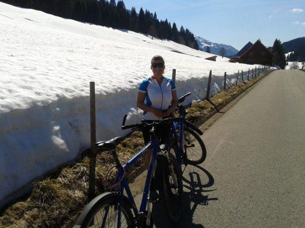 Ein perfekter Mountainbike-Tag im Allgäuer Frühling geht zu Ende