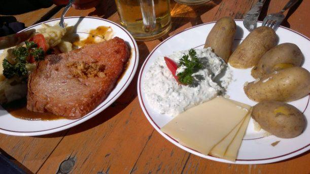 Kemptener Hütte, Mittagessen im Allgäu