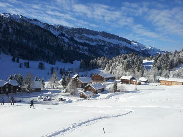 Ausreichende Schneehöhe in Rohrmoos