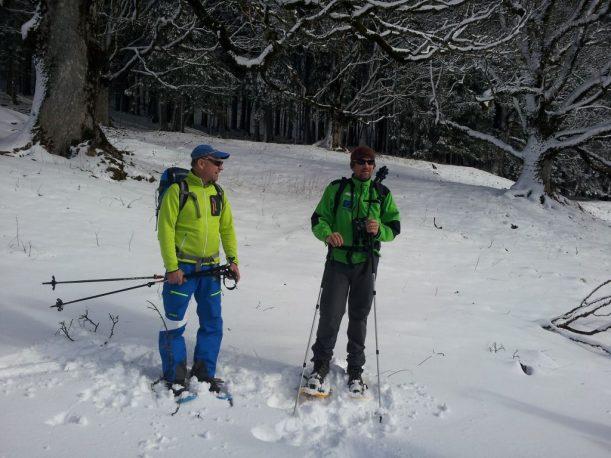 Experten bei der Schneeschuhwanderung