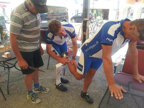 Kleine Verletzungen werden sofort behandelt, ein erfahrenes Team kümmert sich mit unterschiedlichster Ausrüstung!