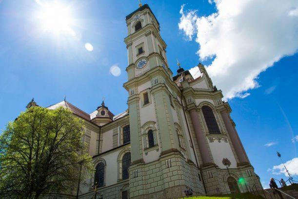 Die Basilika von Ottobeuren an der Radrunde Allgäu