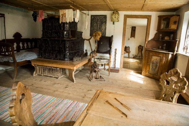 Wohnstube im Schwäbischen Bauernhof Museum Illerbeuren - Radrunde Allgäu