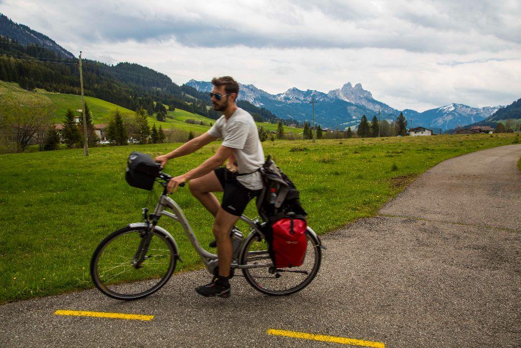 Blick auf die Berge im Tannheimer Tal - Radrunde Allgäu