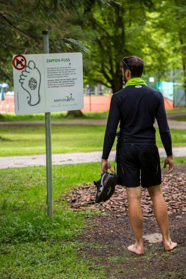 Der Barfuß-Pfad im Kurpark Bad Wörishofen an der Radrunde Allgäu