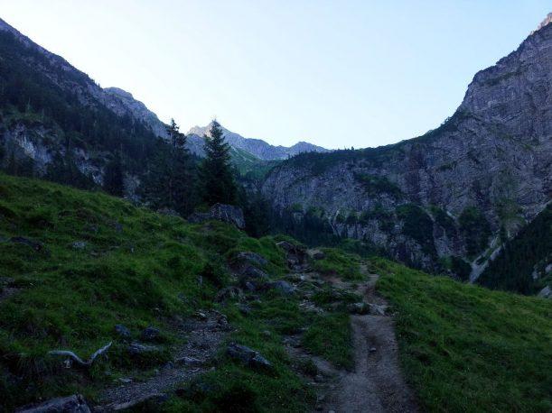 Aufstieg zum Gaisalpsee der Allgäuer Alpen