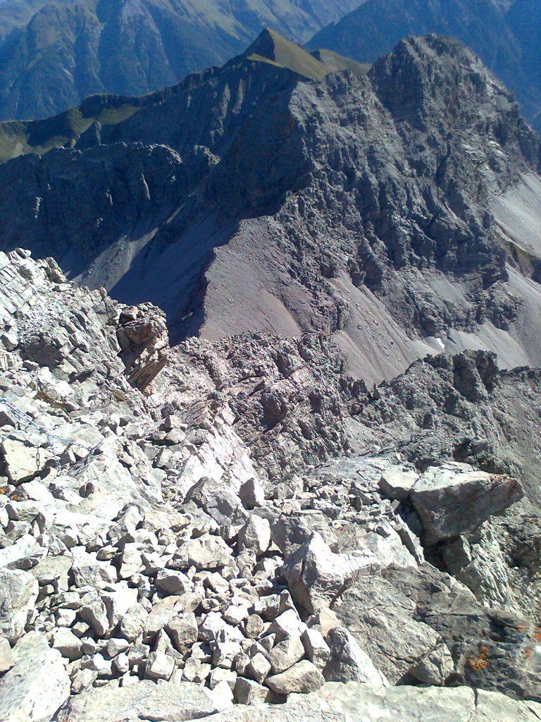 Abstieg in den Allgäuer Alpen