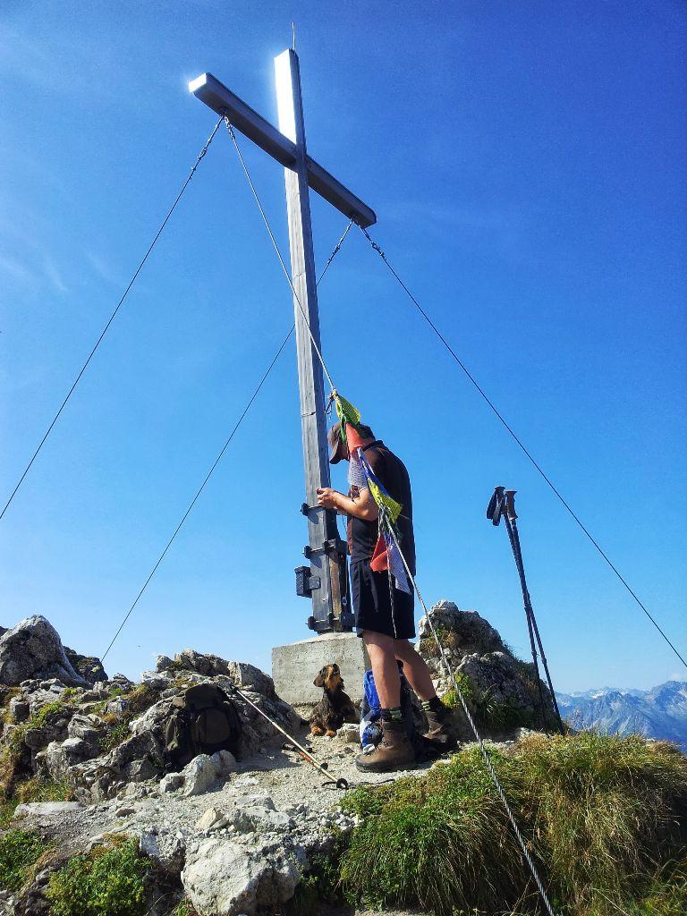 Gipfelkreuz Rubihorn in den Allgäuer Alpen