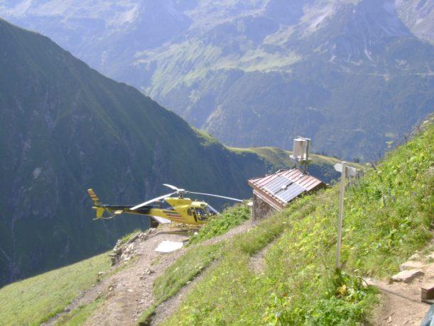 Hubschrauber beim Waltenberger Haus