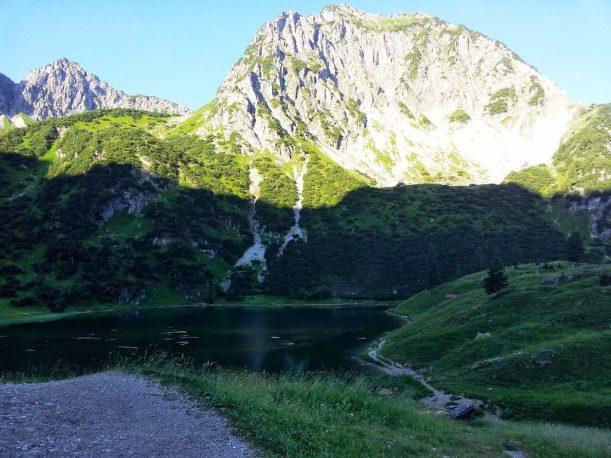 Blick vom Gaialpsee in den Allgäuer Alpen