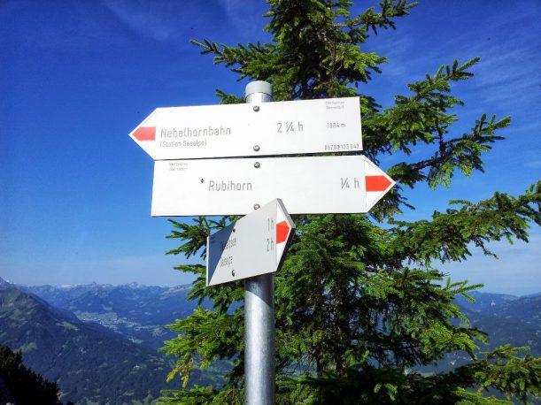 Wegbeschilderung in den Allgäuer Alpen