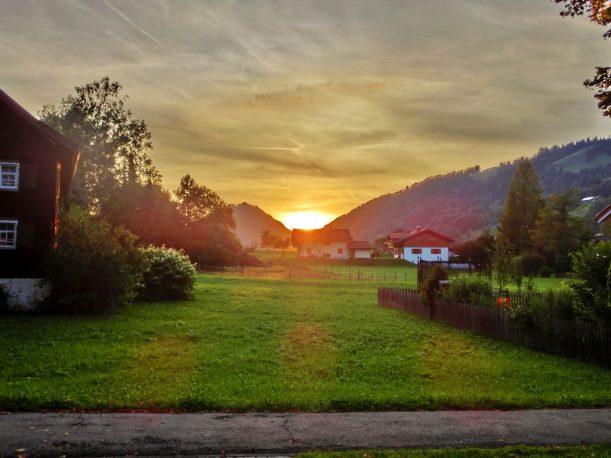 Dorfhaus Thalkirchdorf - Sonnenuntergang