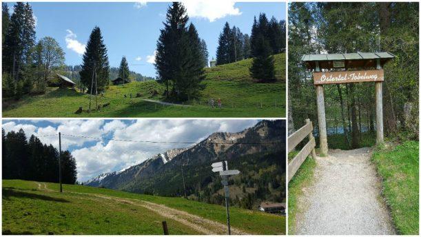 Wanderung zum Portaleingang des Ostertaltobel vorbei am schönen Allgäuer Landschaftspanorama