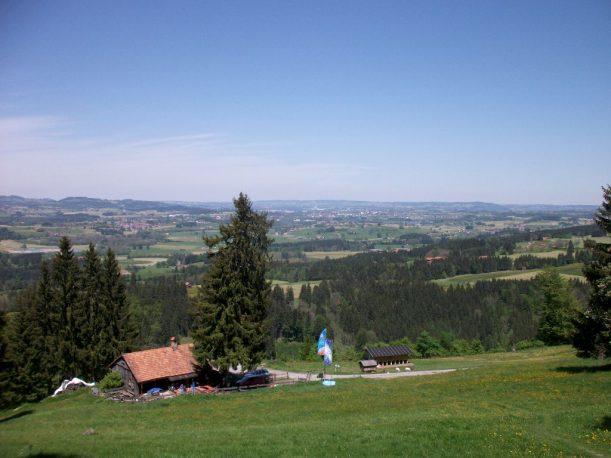 Traumhafter Ausblick in die Alpen