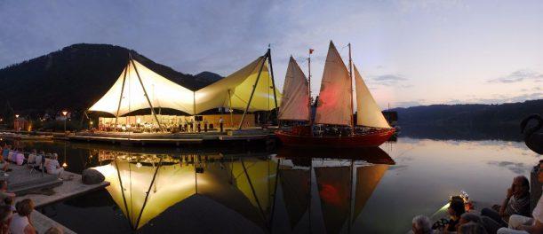 Angelegt beim Abendkonzert der Musikkapelle im Strandpavillon am Großen Alpsee