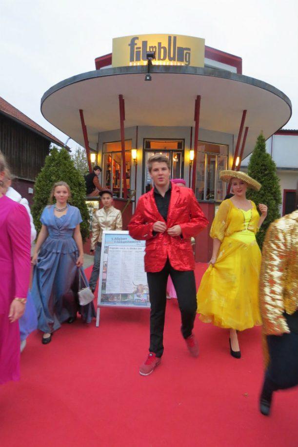 """Die """"filmburg"""" bringt Farbe in die Kreisstadt des Ostallgäus (Foto: Monika Schubert)"""