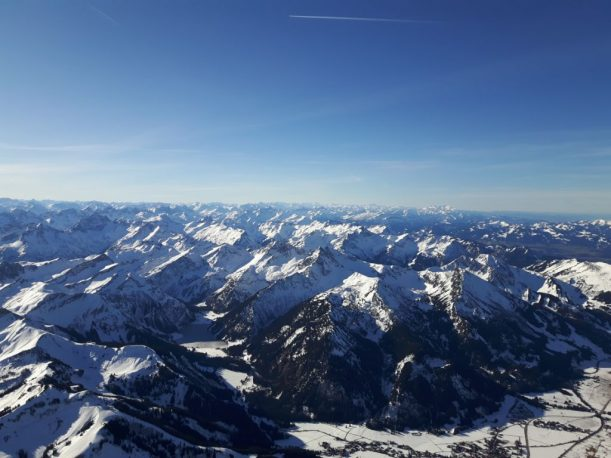 Die Alpen von oben