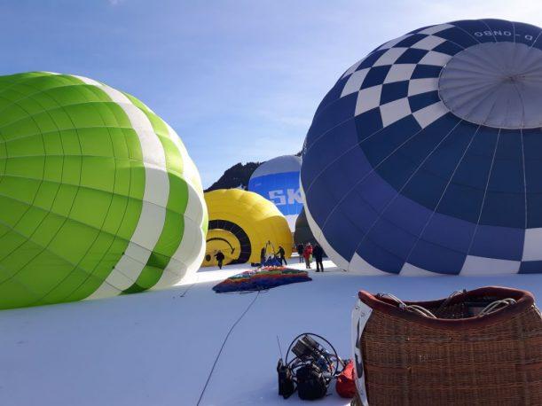 Ballone am Startplatz