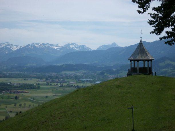 Logenplatz bei Rettenberg - heutiges Ziel der Wanderung