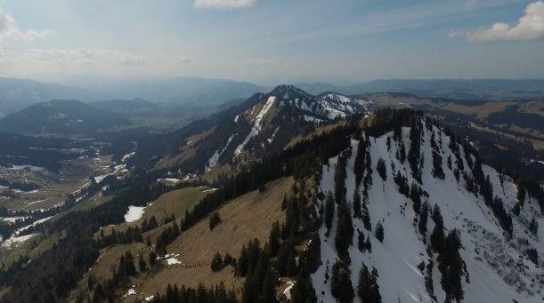 Südseitiger Aufstieg ohne Schnee