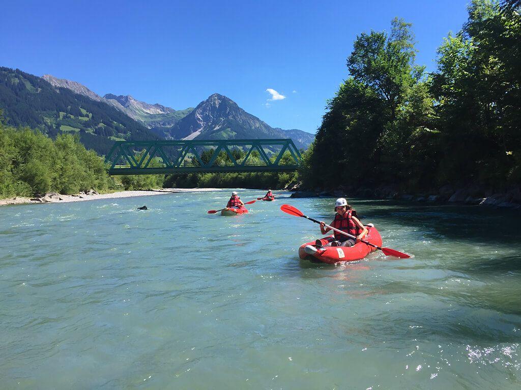Canyoning Team Allgäu - Bootfahren von der Breitachklamm über den Illerursprung bis nach Kempten