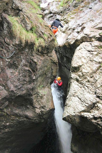 canyoning allgäuer alpen starzlachklamm