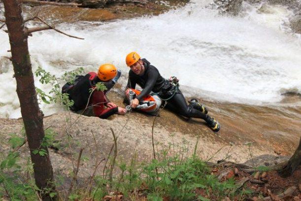Abseilen canyoning allgäuer alpen starzlachklamm