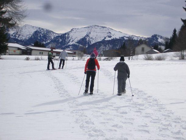 Schneehschuhwandern Nagelfluh, Alpen