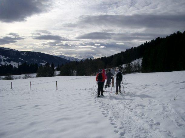 Schneeschuhwandern Alpen