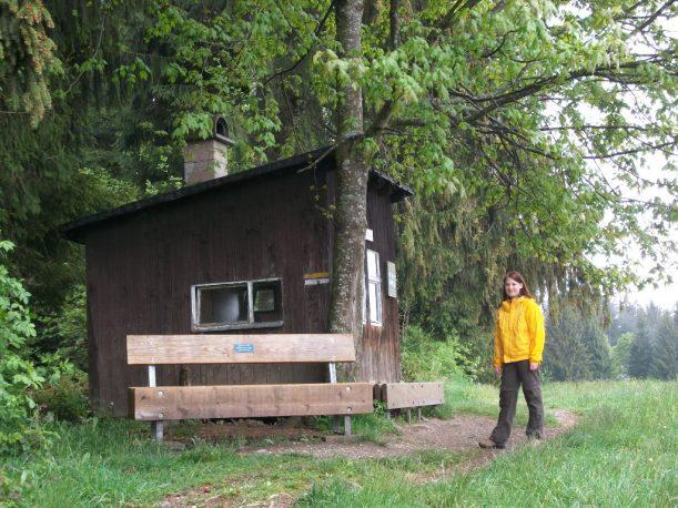 Wanderroute zum Grenzhäuschen bei Oberreute im Allgäu