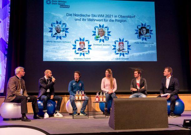 Diskussion mit Sportlern zur Nachhaltigkeit