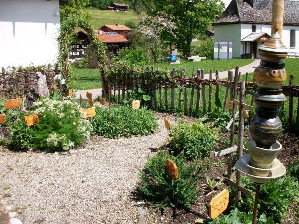Der Kräutergarten in Gunzesried im Allgäu