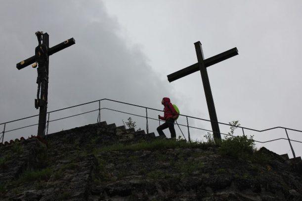 Aufstieg: Die letzten Stufen auf den Kalvarienberg