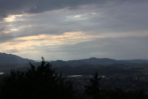 Aussicht vom Kalvarienberg auf Füssen und Umgebung