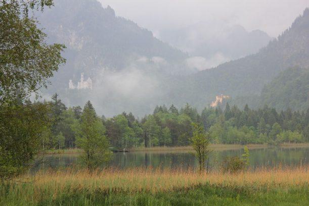 Schwansee mit den Schlössern Neuschwanstein und Hohenschwangau