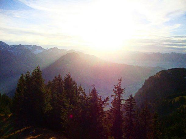 Der Sonnenuntergang vom Jochschrofen aus