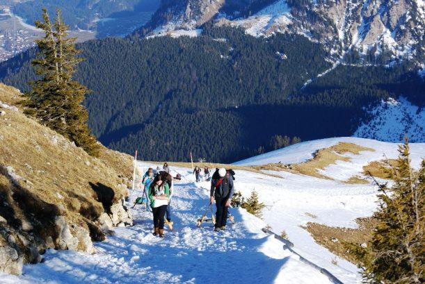 Aufstieg im Winter in den Allgäuer Alpon