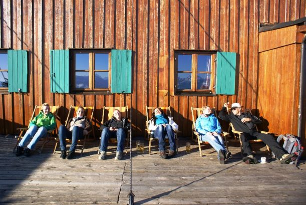 Liegestühle an der Ostler Hütte Pfronten