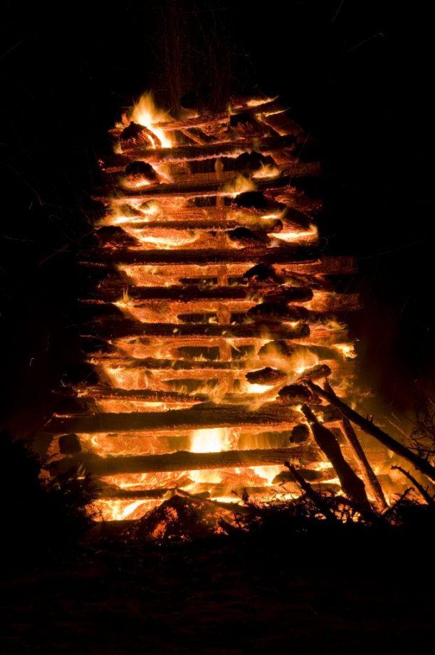 Lichterloh brennt das Funkenfeuer