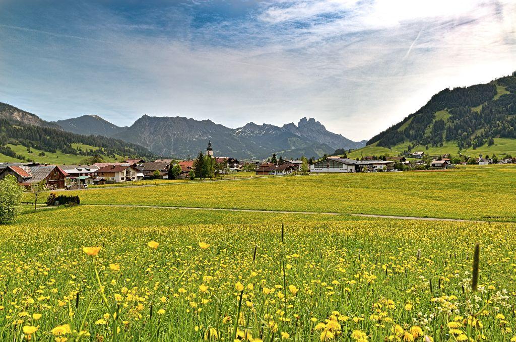 Frühling in den Allgäuer Alpen in Tirol